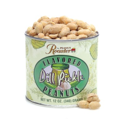 dill pickle flavored peanuts, salt and vinegar