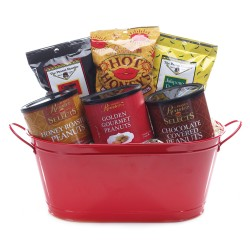 gourmet gift basket, roasted nuts
