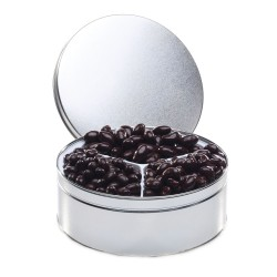 gourmet gift tin, chocolate nuts