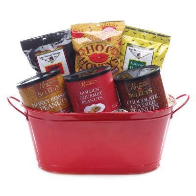 gourmet gift basket, roasted nuts