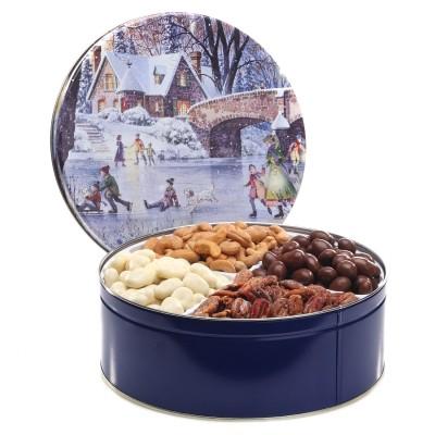 gourmet gift tins, mixed nuts